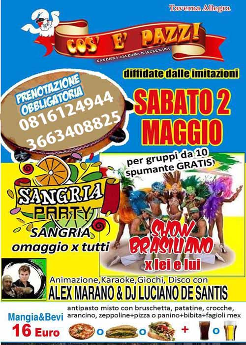 IMPERO II Taverna Allegra Licola Sabato 2 Maggio 2015