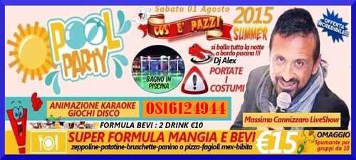 COS E PAZZ Taverna Allegra Licola Sabato 1 Agosto 2015